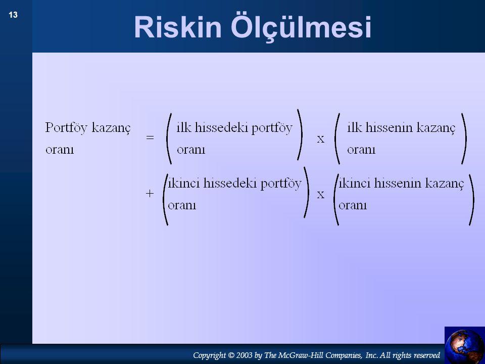 Riskin Ölçülmesi 19