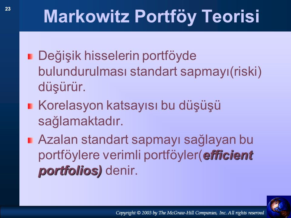 Markowitz Portföy Teorisi