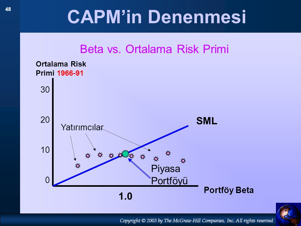 Beta vs. Ortalama Risk Primi