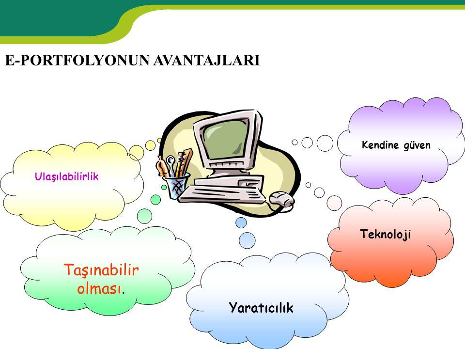 E-PORTFOLYONUN AVANTAJLARI