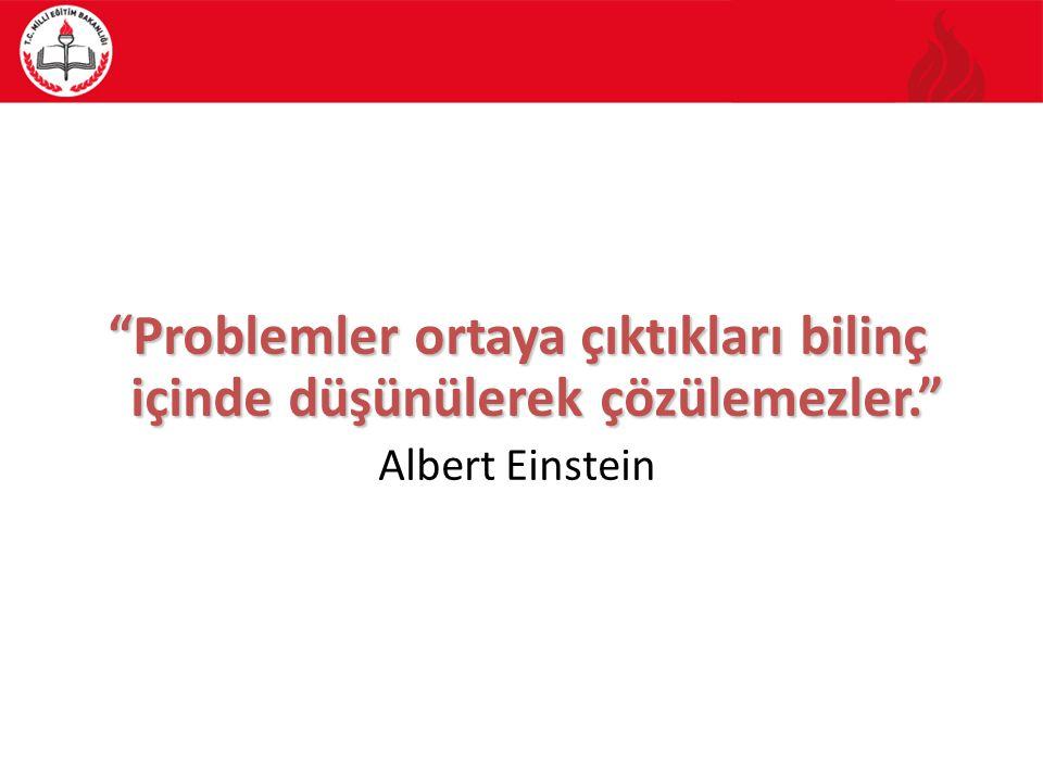 Problemler ortaya çıktıkları bilinç içinde düşünülerek çözülemezler.