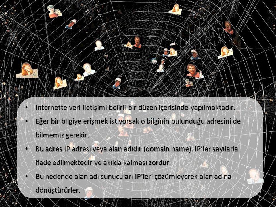 İnternette veri iletişimi belirli bir düzen içerisinde yapılmaktadır.