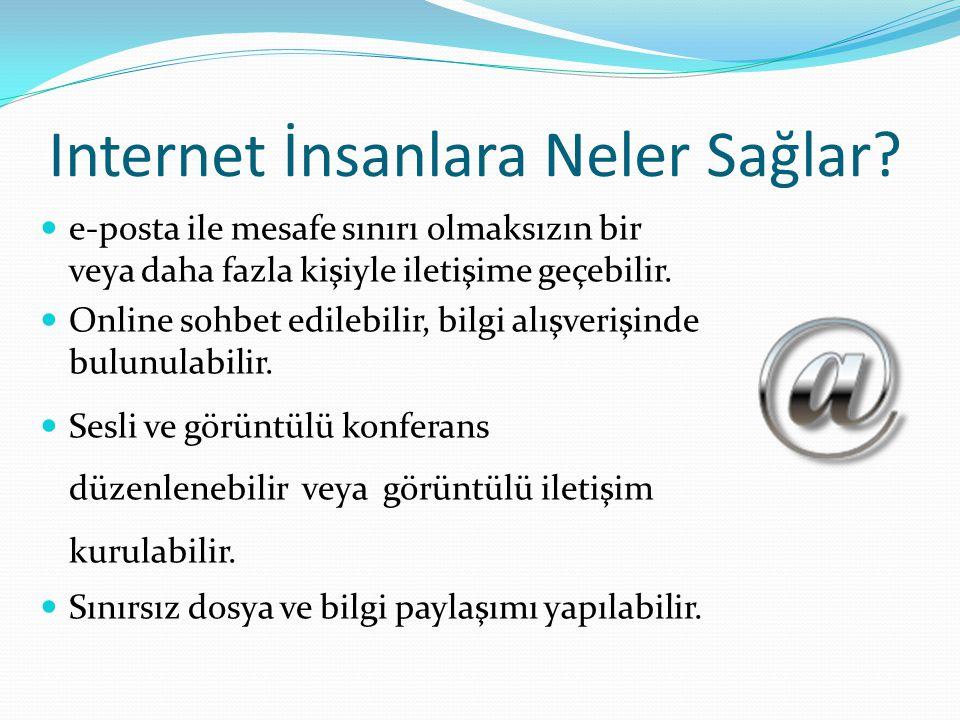 Internet İnsanlara Neler Sağlar