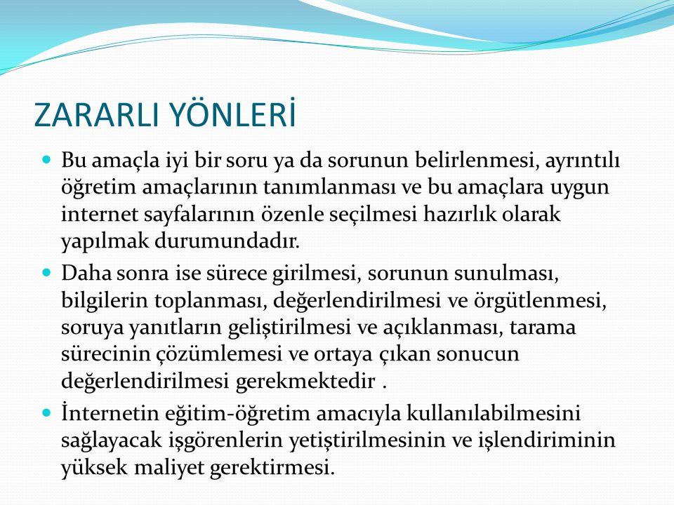 ZARARLI YÖNLERİ