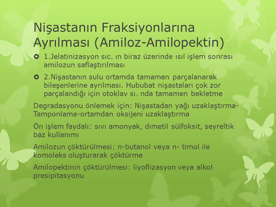 Nişastanın Fraksiyonlarına Ayrılması (Amiloz-Amilopektin)