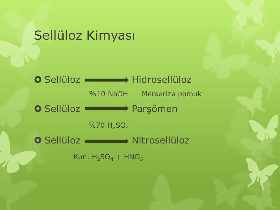 Sellüloz Kimyası Sellüloz Hidrosellüloz %10 NaOH Merserize pamuk