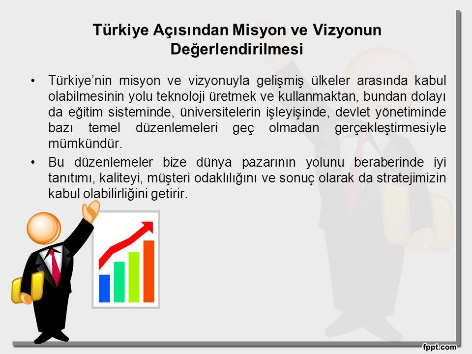 Türkiye Açısından Misyon ve Vizyonun Değerlendirilmesi