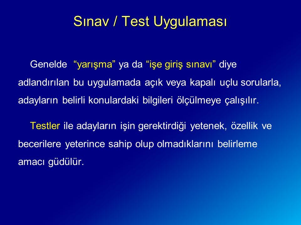 Sınav / Test Uygulaması