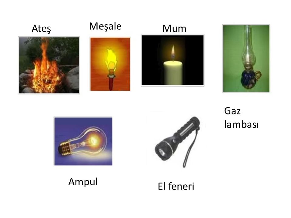 Meşale Ateş Mum Gaz lambası Ampul El feneri