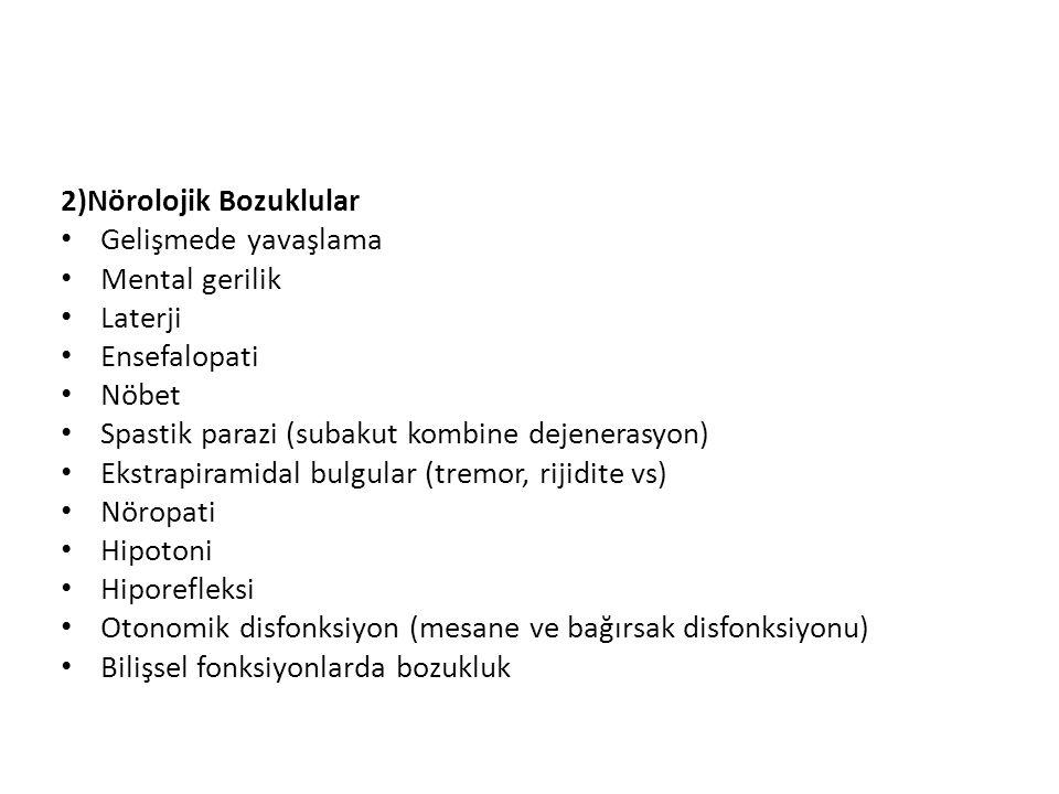2)Nörolojik Bozuklular