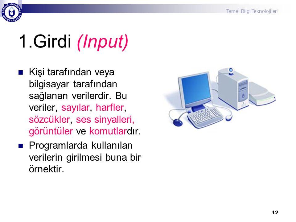 1.Girdi (Input)