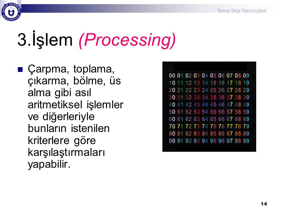 3.İşlem (Processing)