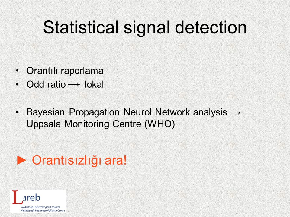 Statistical signal detection