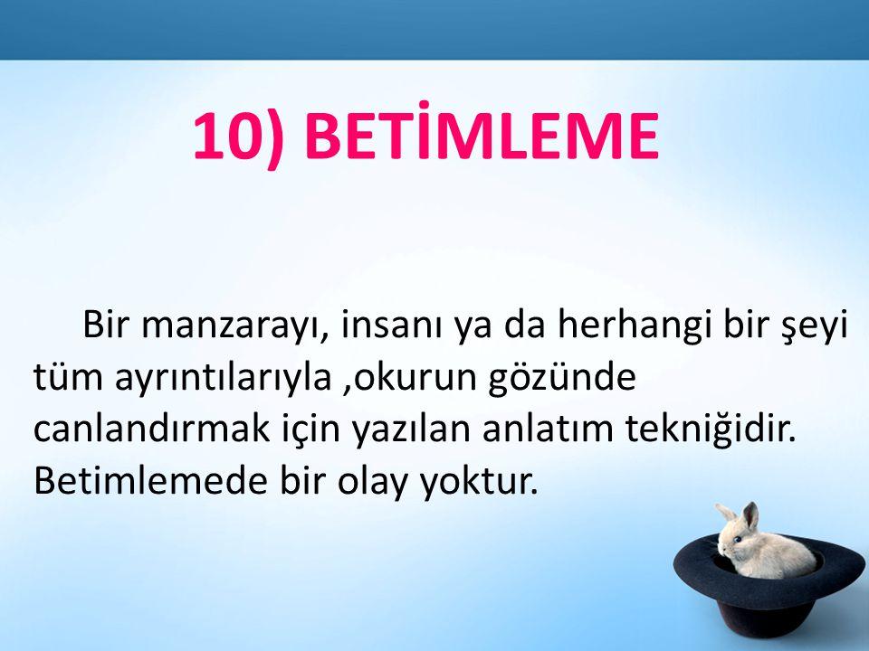 10) BETİMLEME