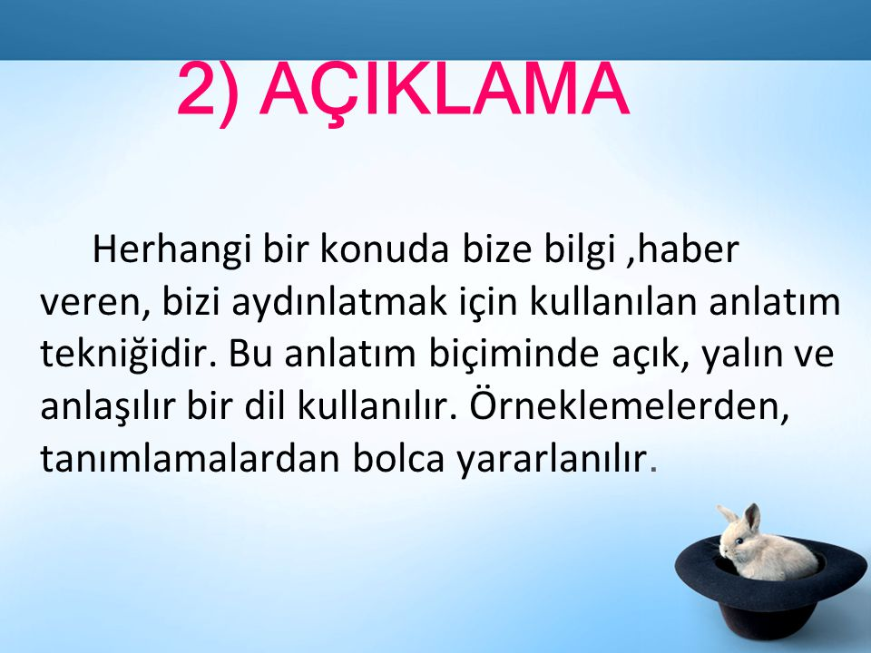 2) AÇIKLAMA
