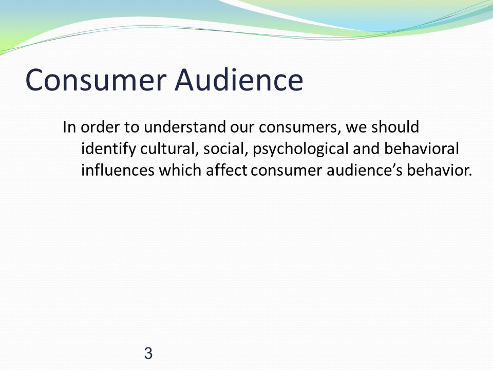 Consumer Audience