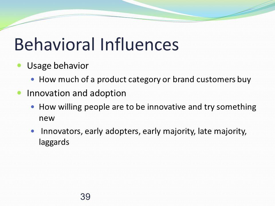 Behavioral Influences