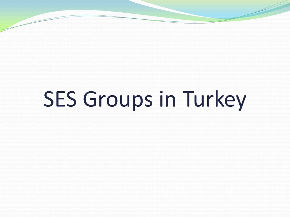 SES Groups in Turkey