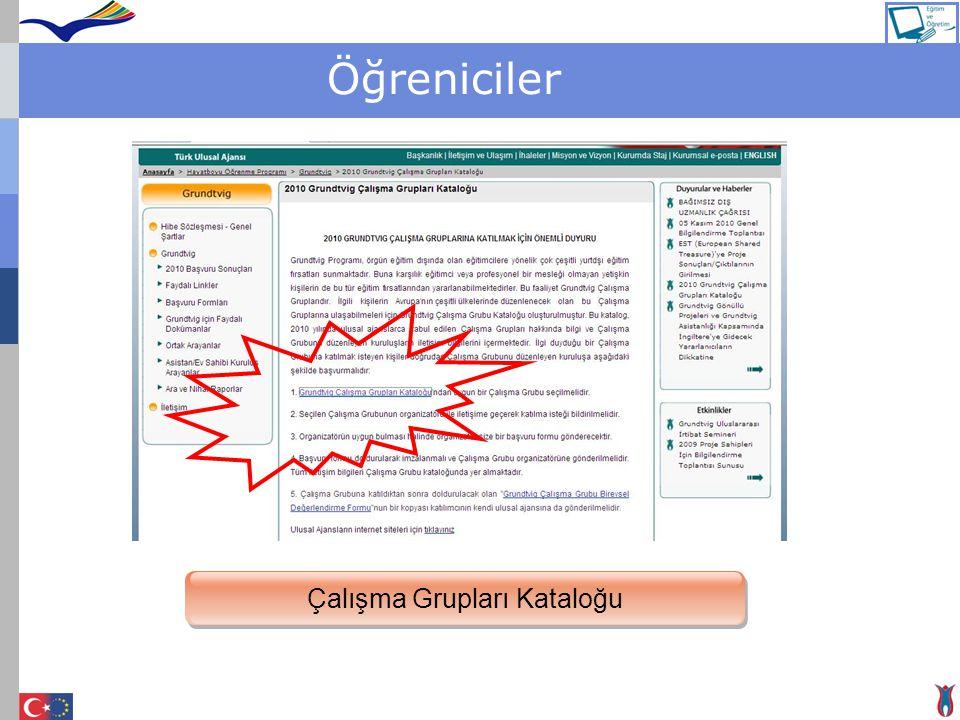 Çalışma Grupları Kataloğu
