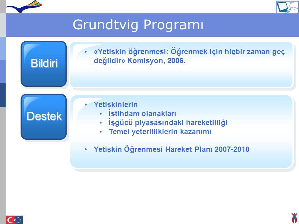 Grundtvig Programı Bildiri Destek