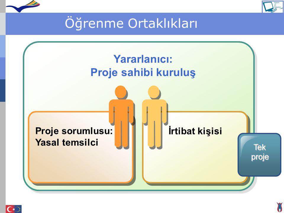 Öğrenme Ortaklıkları Yararlanıcı: Proje sahibi kuruluş