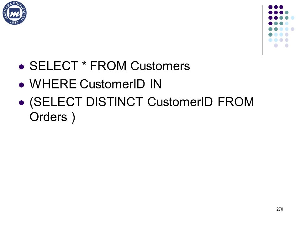 SELECT * FROM Customers