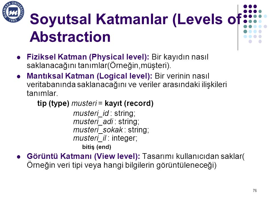 Soyutsal Katmanlar (Levels of Abstraction