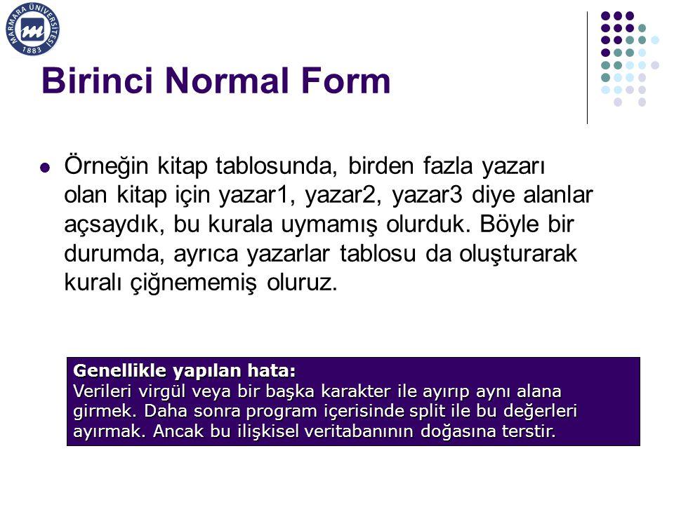 Birinci Normal Form