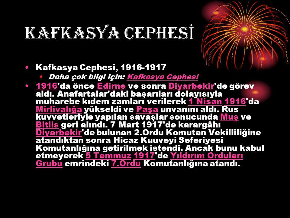 KAFKASYA CEPHESİ Kafkasya Cephesi, 1916-1917
