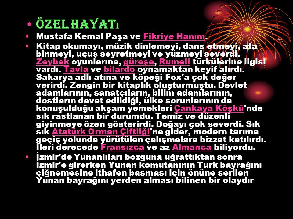 Özel Hayatı Mustafa Kemal Paşa ve Fikriye Hanım.