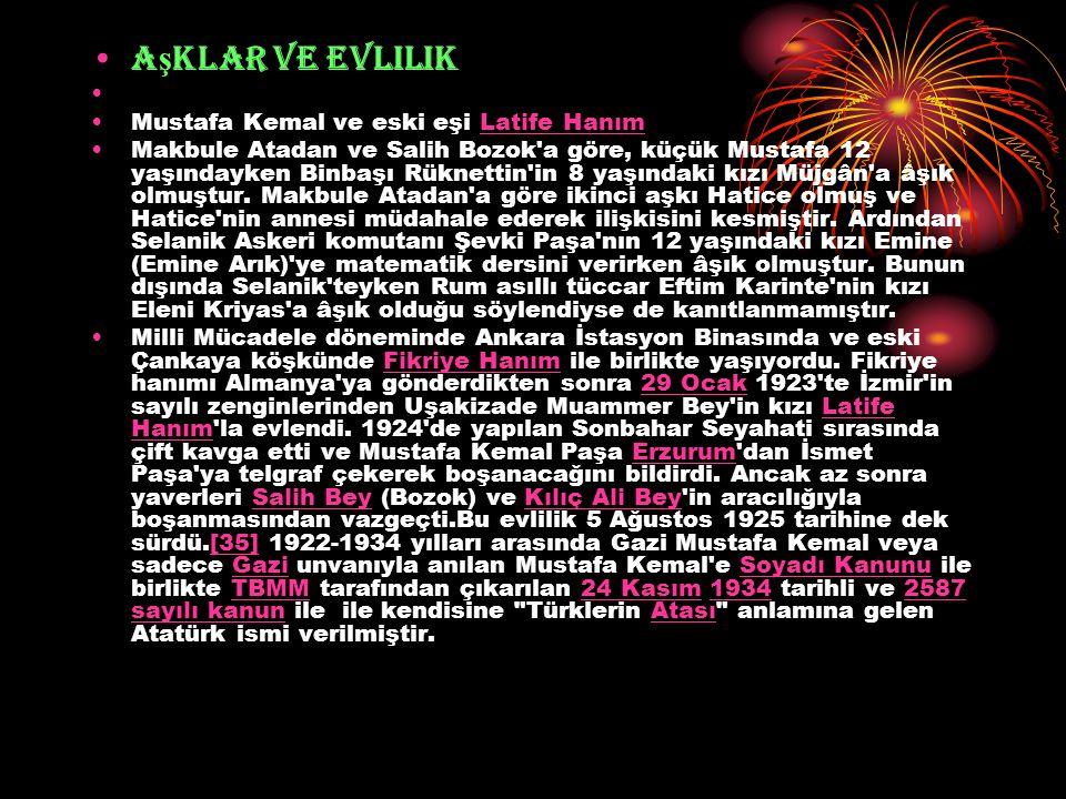 Aşklar ve evlilik Mustafa Kemal ve eski eşi Latife Hanım
