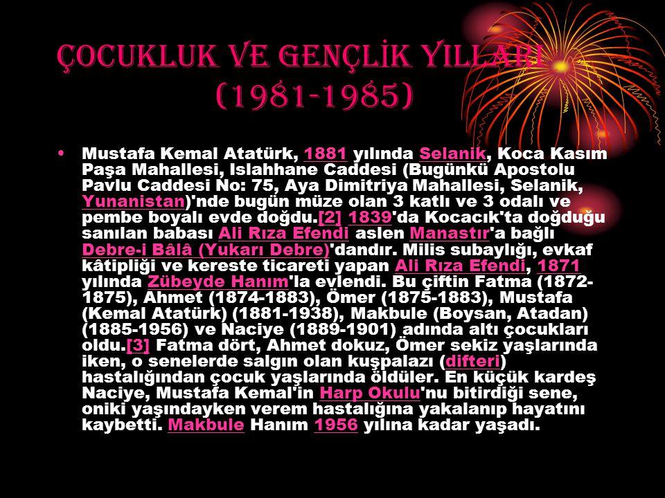 ÇOCUKLUK VE GENÇLİK YILLARI (1981-1985)