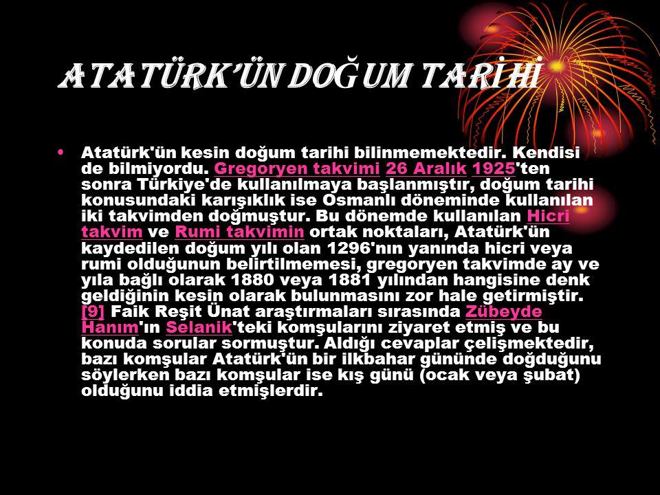 ATATÜRK'ÜN DOĞUM TARİHİ