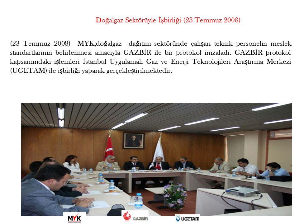 Doğalgaz Sektörüyle İşbirliği (23 Temmuz 2008)
