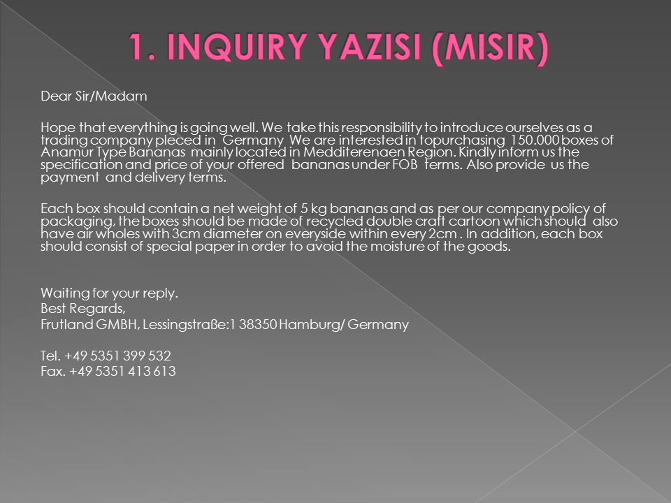 1. INQUIRY YAZISI (MISIR)
