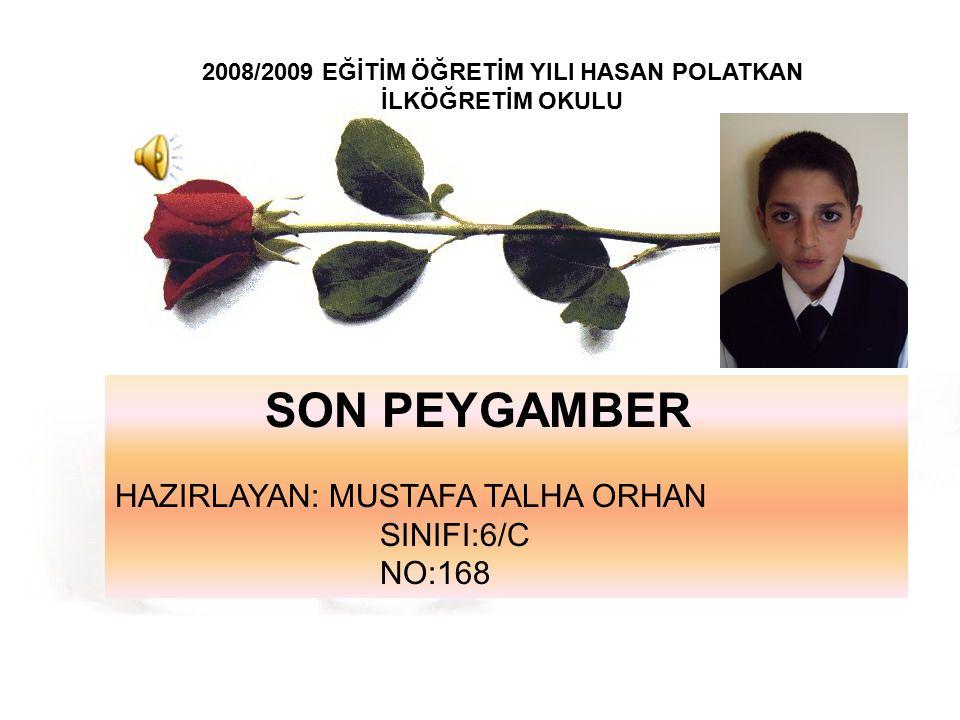 2008/2009 EĞİTİM ÖĞRETİM YILI HASAN POLATKAN