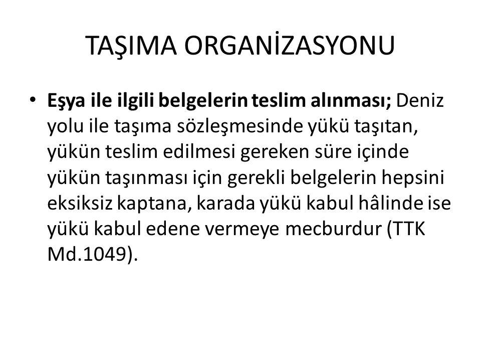 TAŞIMA ORGANİZASYONU