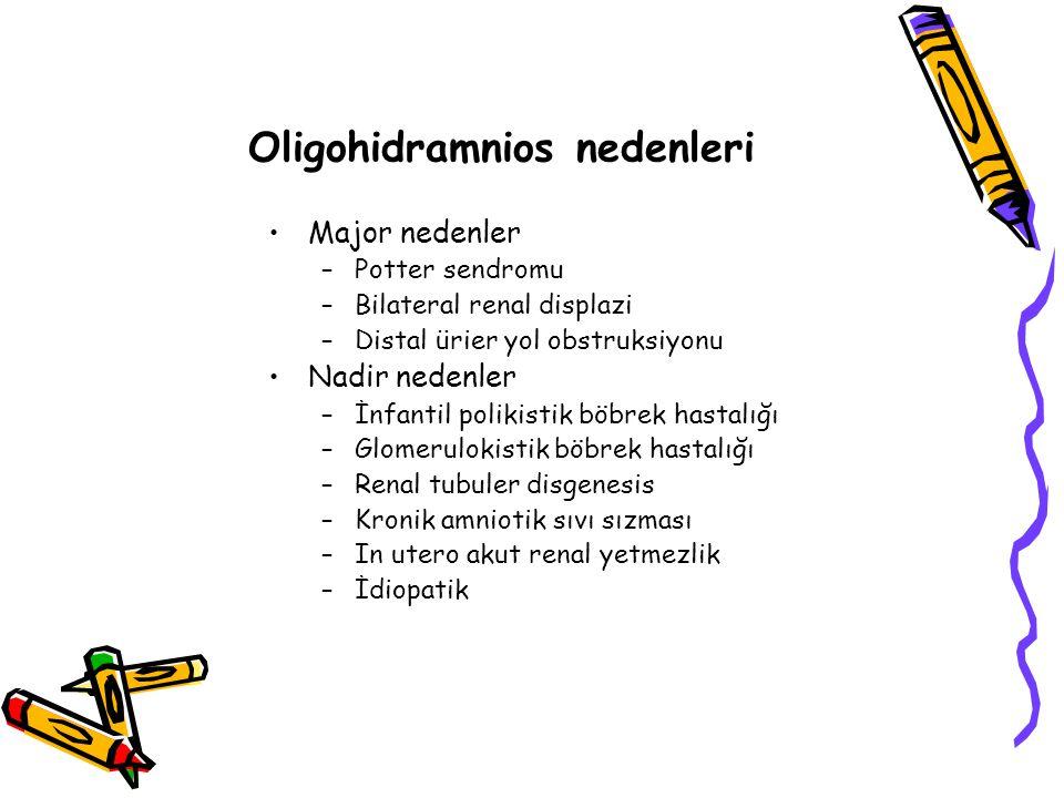Oligohidramnios nedenleri