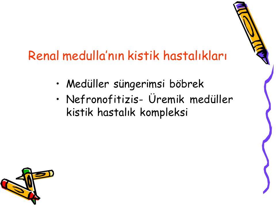 Renal medulla'nın kistik hastalıkları