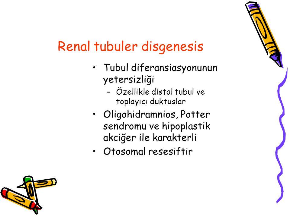 Renal tubuler disgenesis