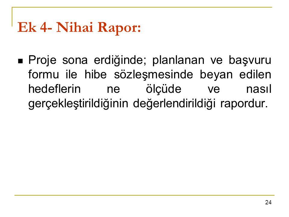 Ek 4- Nihai Rapor: