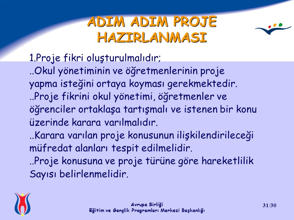 ADIM ADIM PROJE HAZIRLANMASI