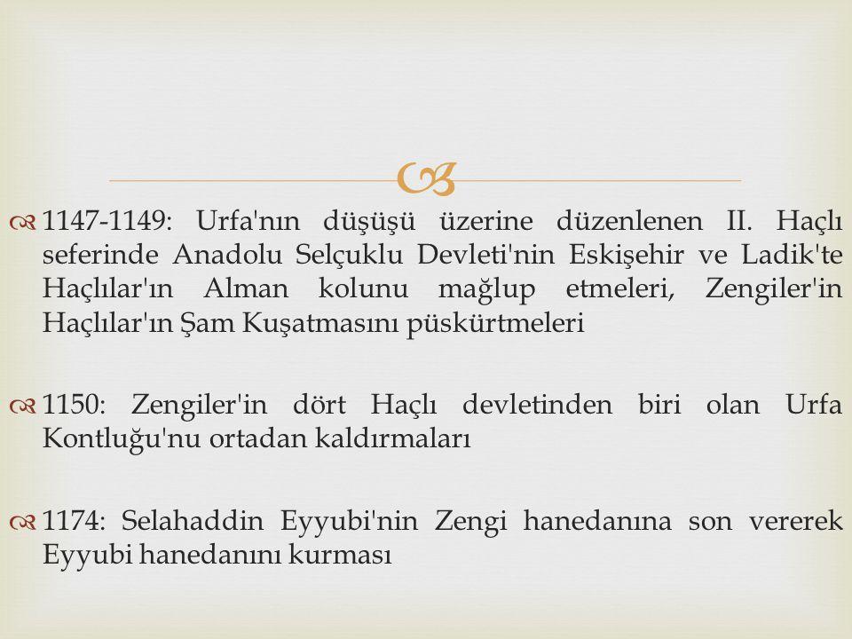 1147-1149: Urfa nın düşüşü üzerine düzenlenen II