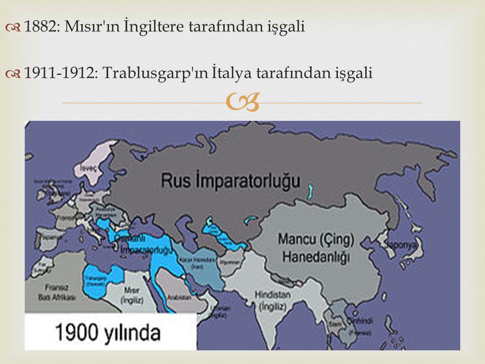 1882: Mısır ın İngiltere tarafından işgali