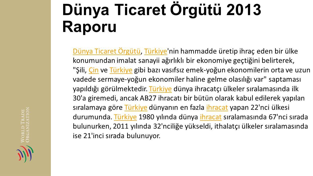 Dünya Ticaret Örgütü 2013 Raporu