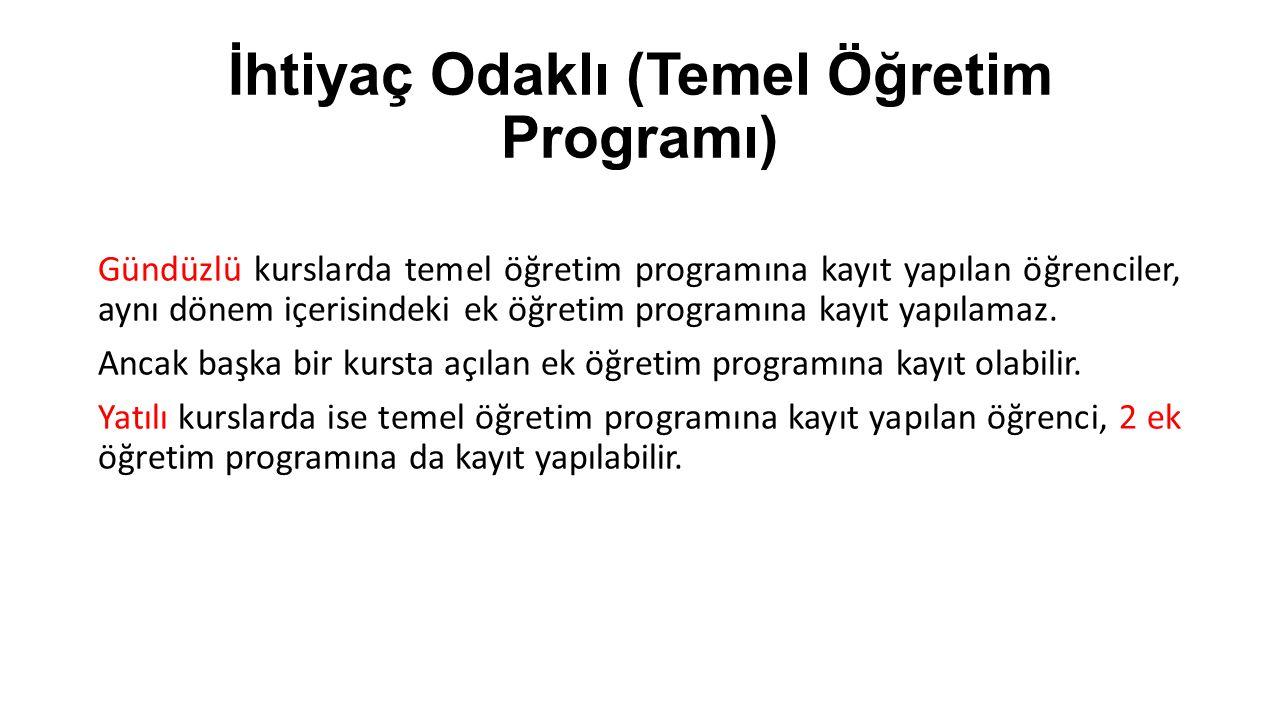 İhtiyaç Odaklı (Temel Öğretim Programı)