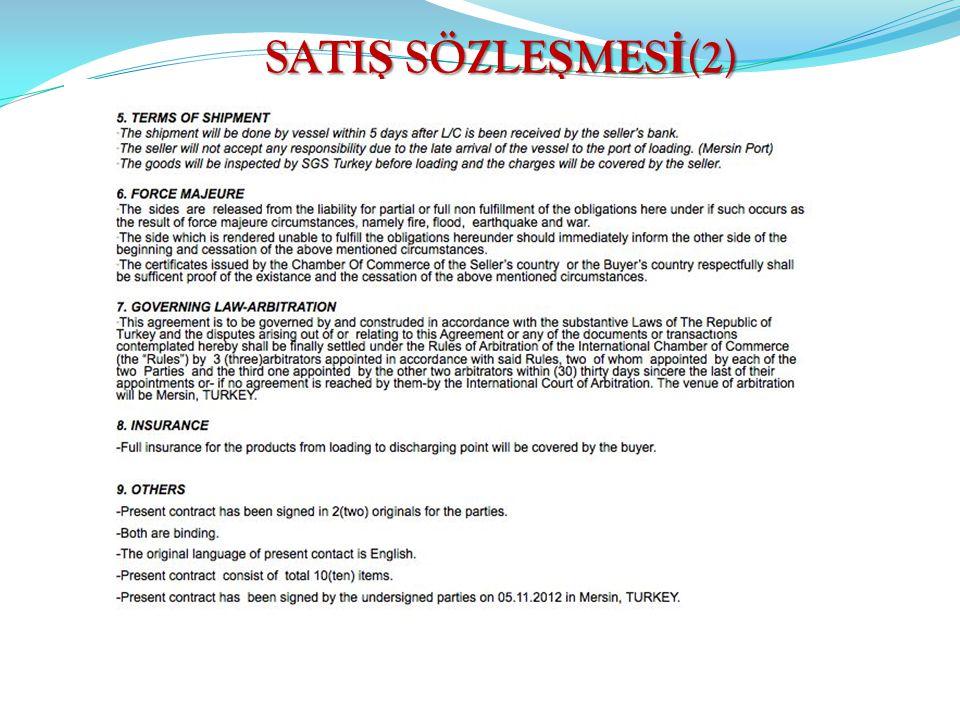 SATIŞ SÖZLEŞMESİ(2)