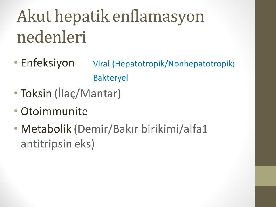 Akut hepatik enflamasyon nedenleri