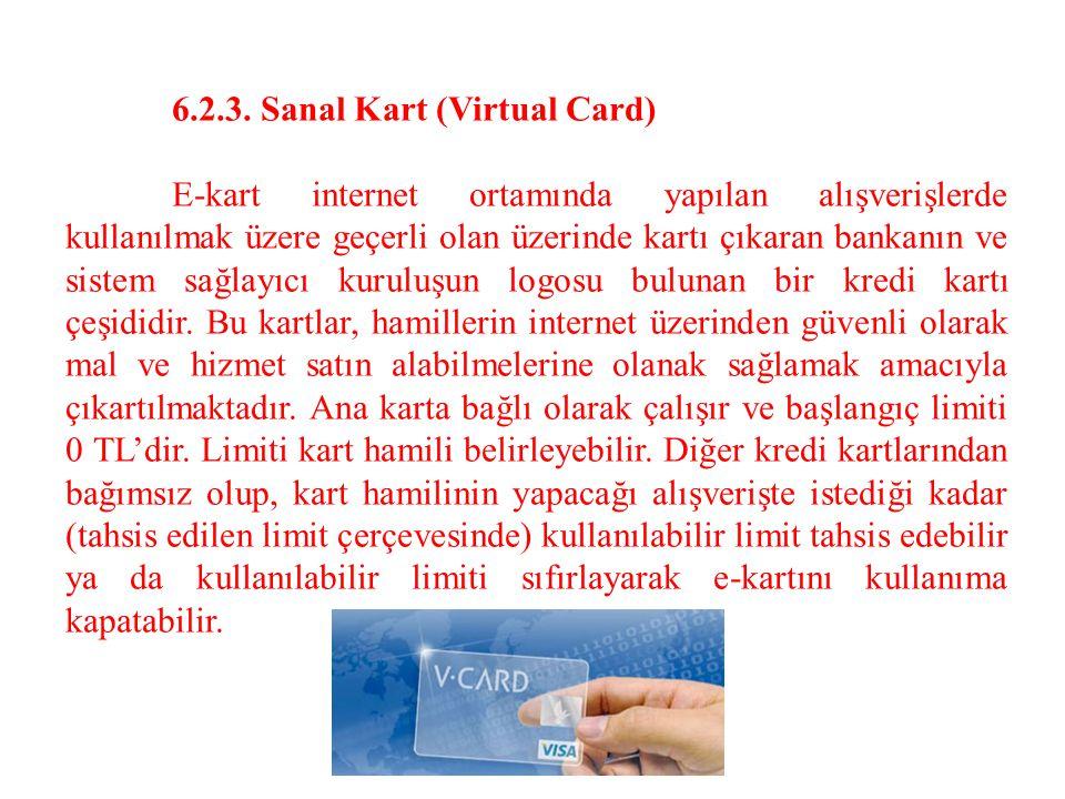 6.2.3. Sanal Kart (Virtual Card)