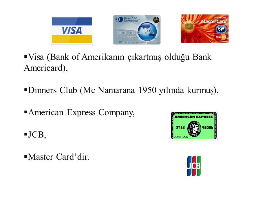 Visa (Bank of Amerikanın çıkartmış olduğu Bank Americard),